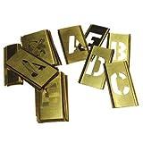 CH Hanson 10028 33 Piece 1'' Brass Letter Interlocking Stencil Set
