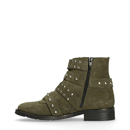 Sacha Damen Buckle Boots Grün
