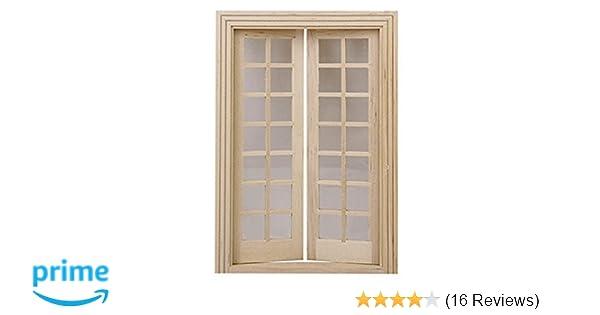 1:12 Dollhouse Miniature Wooden 4 Pane Window DIY Accessories HU