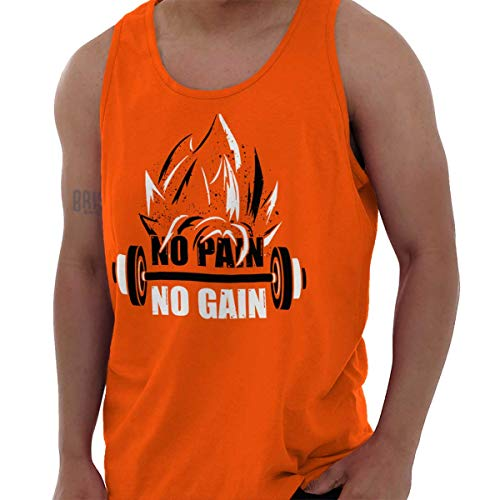 3e878a1edc9ef No Pain No Gain Nerdy Anime Gym Motivation Tank Top