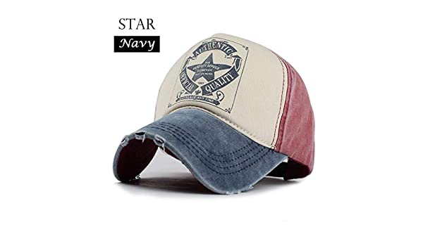 FLAMINGO_STORE Cap for Men and Women Gorras Snapback Caps Baseball Caps Cap Star Navy at Amazon Mens Clothing store: