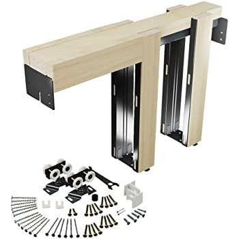 slide co 164553 pocket door kit steel reinforced wood framing for 24 in to 36 in x 6 ft 8 in doors