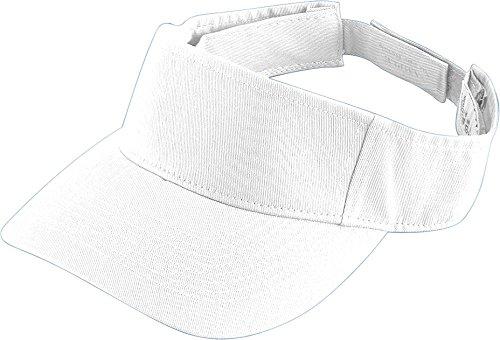 Augusta Sportswear KIDS' SPORT TWILL VISOR OS White