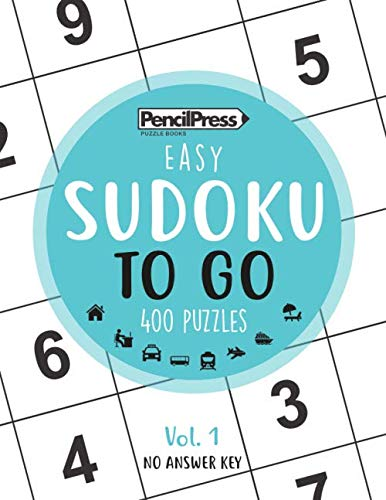 SUDOKU TO GO (400 Puzzles, easy): Sudoku Puzzle Books for adults ()