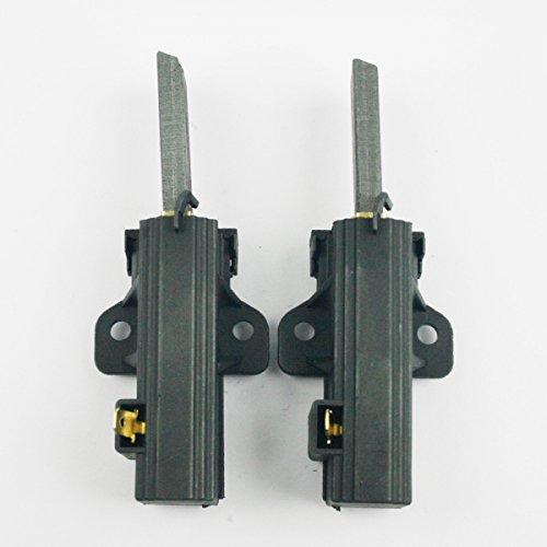 1 Coppia Spazzole di carbone Carboncini motore per AEG Quelle Zanussi Hanseatic lavatrice con sole motore (presa laterale) 124309801 Blaufaust