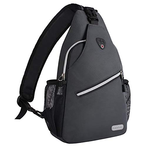 MOSISO Rope Sling Backpack (Up to 13 Inch), Multipurpose Crossbody Chest Shoulder Outdoor Travel Hiking Daypack, Space Gray (Sling Ipad Tablet Backpack)