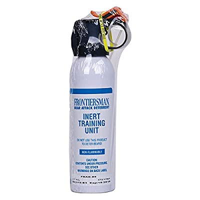 Frontiersman Practice Bear Spray – Water-based Training Canister – 30' Range (7.9 oz) –INERT - NO ACTIVE INGREDIENTS