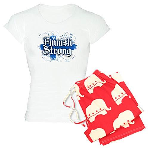 CafePress Finnish Strong Pajamas Womens Novelty Cotton Pajama Set, Comfortable PJ Sleepwear