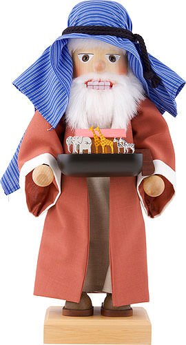German Christmas Nutcracker Noah limited edition - 44cm / 17 inch - Christian Ulbricht by Authentic German Erzgebirge Handcraft