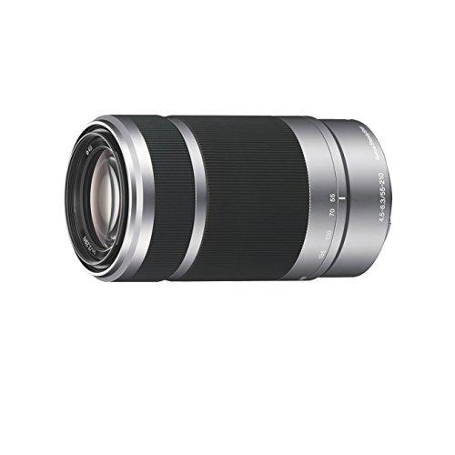 Sony SEL55210, Tele-Zoom-Objektiv (55-210 mm, F4,5-6,3 OSS, E-Mount APS-C, geeignet für A5000/ A5100/ A6000 Serien& Nex) schwarz und silber
