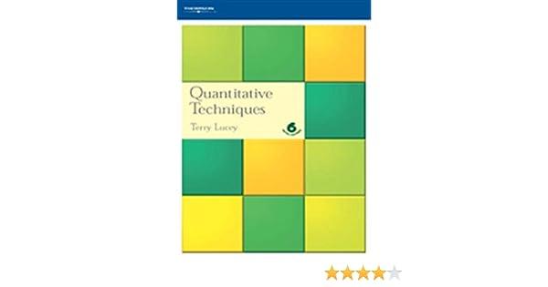 Quantitative Techniques Terry Lucey Ebook