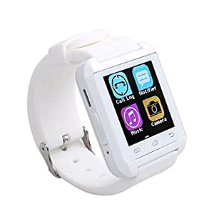 Flylinktech U8 Plus Smart Watch Bluetooth Watch Phone Touch Screen Watch for Android and IOS Iphone (white)
