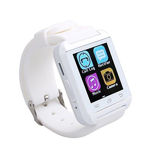 Flylinktech® U8 Plus whatsapp smartwatch Reloj inteligente táctil compatible con Android e iOS Bluetooth 4.0 (blanco): Amazon.es: Electrónica