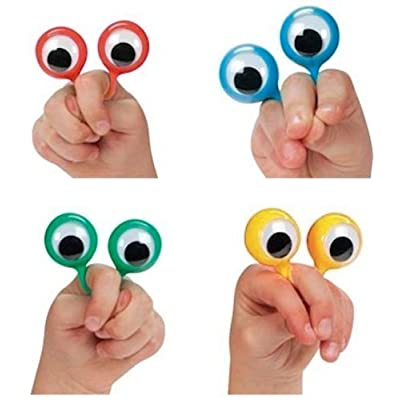 4 Googly Eye Finger Puppets (set of 4) by ROCKYMART: Toys & Games