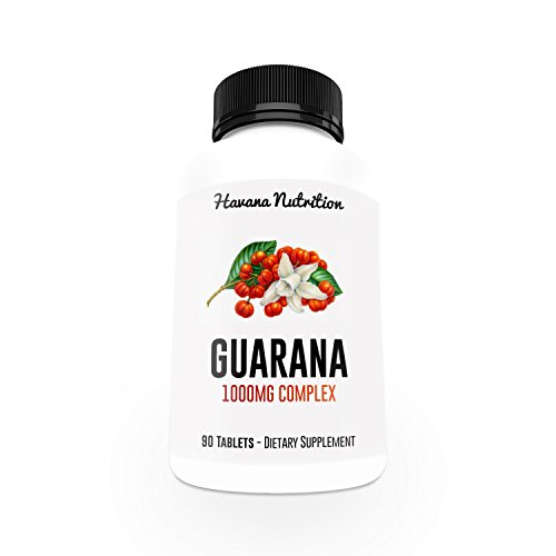 Guarana Extract Powder 1000mg - Natural Caffeine Capsules - Energy Berries