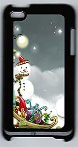 iPod 4Case Christmas Playground PC Custom iPod 4Case Cover Black