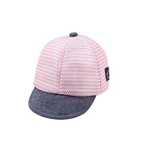 XIAOHAWANG Dot Baby Summer Caps Girl Boys Sun Hat with Ear (Mesh Pink) -