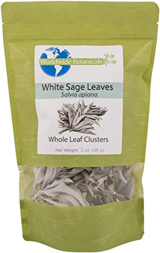 White Sage, California Whole Leaf Clusters, 100% pure, 2 oz
