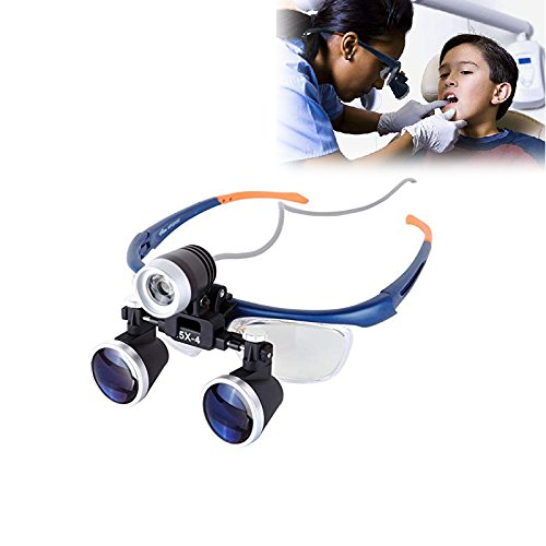 Doc.Royal 2.5X 420mm Surgical Medical Binocular Loupes Optical Glass Headset Magnifying Glasses +3W LED Headlight
