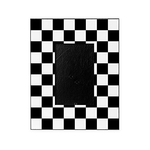 CafePress - Black and White Checkered Pattern - Decorative 8x10 Picture Frame