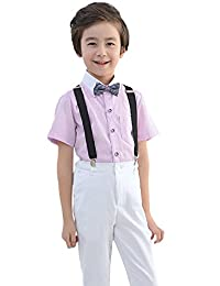 Liveinu Boy Formal Tuxedo Waistcoat Outfit Suit for Party Wedding