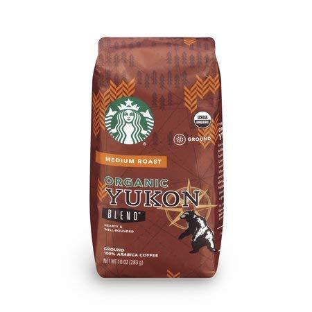 Starbucks Organic Yukon Blend Ground Coffee, 10-Ounce Bag