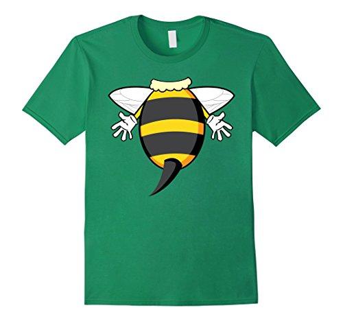 Mens Funny Honeybee Costume Shirt - Hilarious Bee Halloween Gift Small Kelly Green