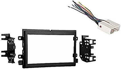 amazon.com: compatible with ford five hundred 2005 2006 2007 double din stereo  harness radio install dash kit package: car electronics  amazon.com