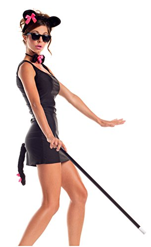 Party King Women's Blind Mouse Kit Costume, Black, One Size