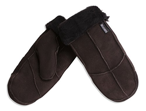 Nordvek Womens Sheepskin Mittens # 308-100-Dark Chocolate-One Size