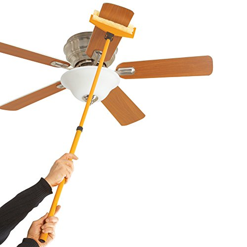 Collections Etc Extendable Ceiling Fan Cleaning Tool - Helpful Cleaning Tools for Any Room in Home