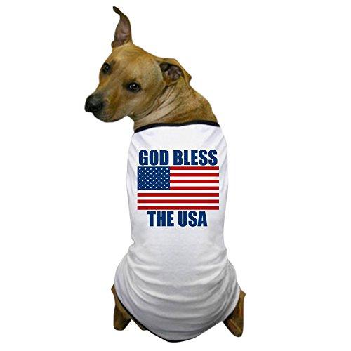 CafePress - God Bless The USA - Dog T-Shirt, Pet Clothing, Funny Dog Costume