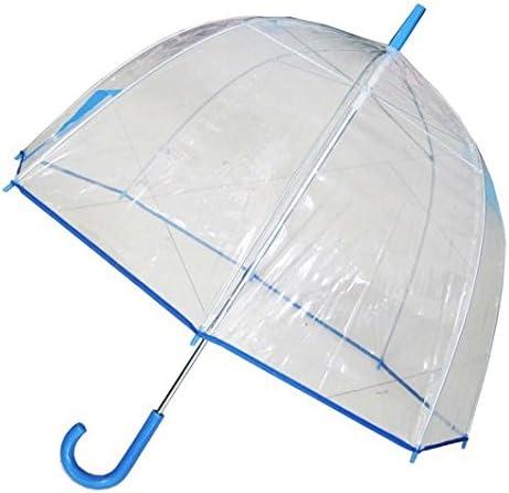 Conch Umbrellas 1265AXBlue Bubble Clear Umbrella44; Dome Shape Clear Umbrella