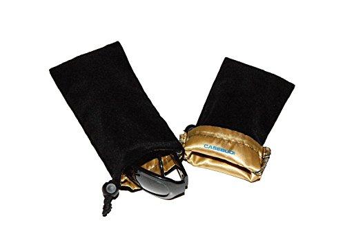 CASEBUDi Premium Sunglasses and Glasses Case - 2 Pack - Thick Sofa Velvet with Silky Satin - Sun Mp3 Glasses