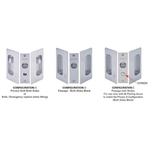 Cavilock CL200A-PR-38 Privacy Pocket Door Set for 1-3/8 Inch Door Thickness, Oil Rubbed Bronze