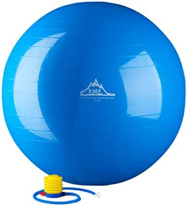 Black Mountain 2000lbs Static Strength Exercise Stability Ball with Pump