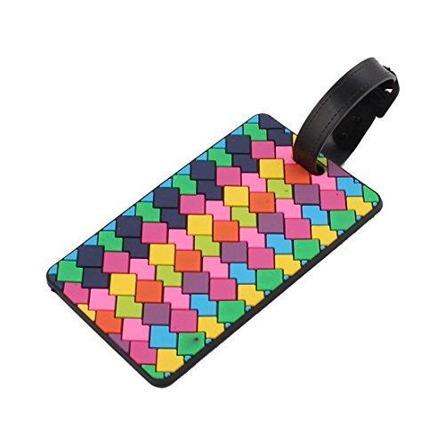 DealMux Rubber Cadeado da manta de bagagem da mala de viagem Tag ID Etiqueta Nome Multicolor