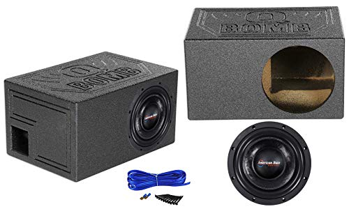 American Bass HD10D1 HD 10' 4000w Competition Subwoofer+Ported Sub Box Enclosure