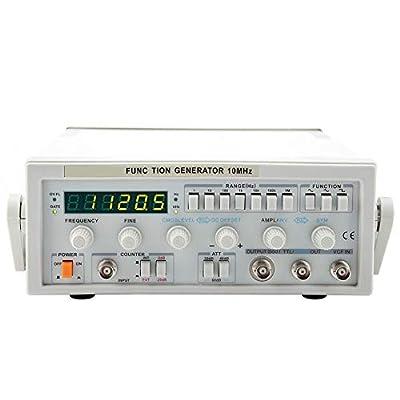Signal Generator, LW-1643 Wave Digital Function Generator 0.1Hz-10MHz Signal Generator Counter Digital Counter Mutil Frequency(US)