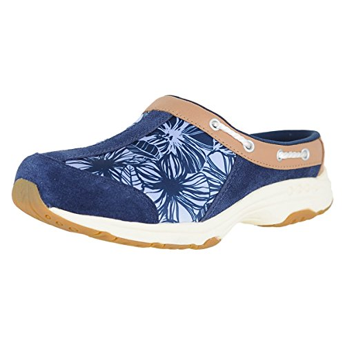 Easy Spirit Travelport 17 Navy M Suede Womens Clogs Size 7.5M Easy Spirit Suede Clogs
