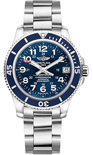 (Breitling Superocean II 36 Blue Dial Stainless Steel Watch A17312D1/C938-179A )