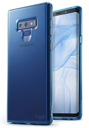 Ringke [Air] Compatible with Galaxy Note 9 Ultimate Ergonomic Resilient Weightless as Air, Extreme Featherweight Supple TPU Scratch Resistant Sturdy Protective Cover for Note 9 Case - Aqua Blue