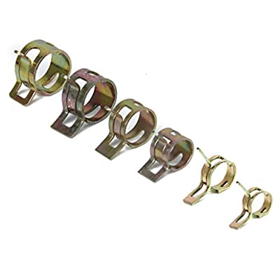 10 x 14mm Spring Clip Fuel Hose Line Water Pipe Air Tube Clamps Fastener