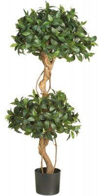- 4 Ft Sweet Bay Double Ball Topiary Silk Tree
