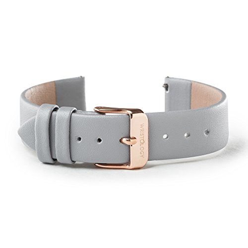 18 Mm Rose - WRISTOLOGY Rose Gold 18mm Womens Easy Interchangeable Watch Band (Grey)