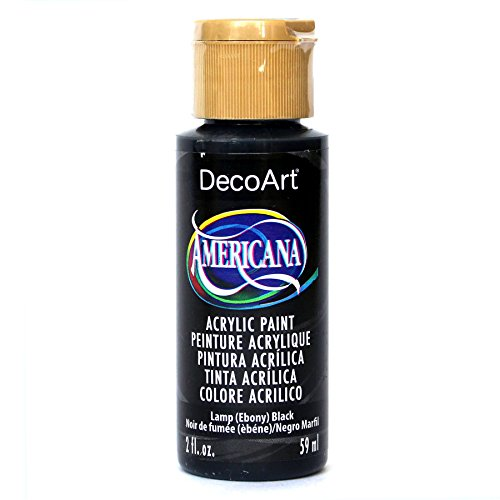 DecoArt Americana Acrylic Paint, 2-Ounce, Lamp Black (DAO67-3) Decoart Americana Acrylic Paints