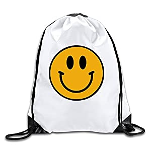 MaNeg Smiley Face Emoticon Drawstring Backpack&Travel Bag