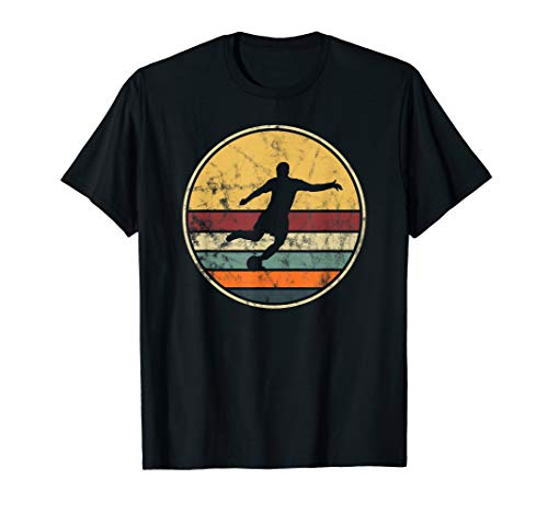 (Soccer Player Vintage T-Shirt Gift Retro Distressed Look Tee)