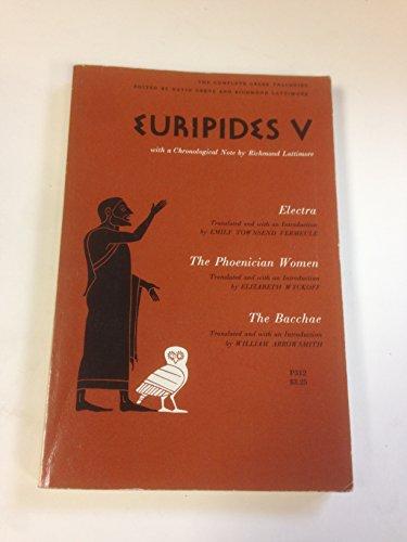 Euripides V:Three Trag.,Electra...