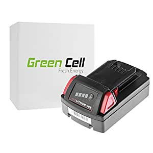Green Cell® Batería de Herramienta Eléctrica para Milwaukee 2630-20 (Li-Ion 2Ah 18V)